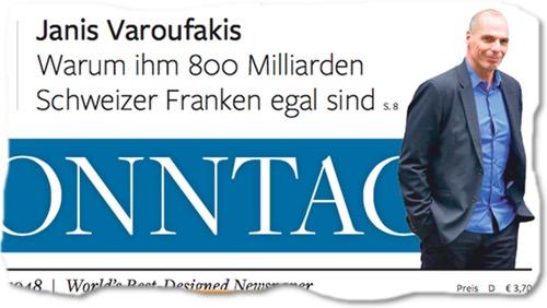 Janis Varoufakis: Warum ihm 800 Milliarden Schweizer Franken egal sind