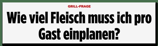 Schlagzeile Bild.de: Wie viel Fleisch muss ich pro Gast einplanen?