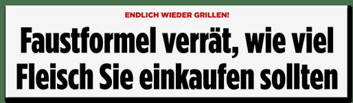 Schlagzeile Bild.de: Faustformel verrät, wie viel Fleisch Sie einkaufen sollten