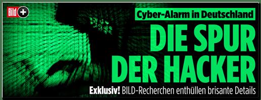 Screenshot Bild.de - Cyber-Alarm in Deutschland - Die Spur der Hacker - Exklusiv! Bild-Recherchen enthüllen brisante Details