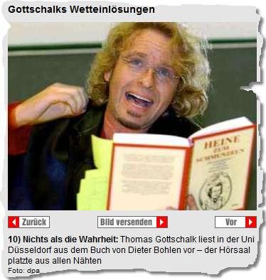 Gottschalk liest in der Uni Düsseldorf