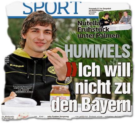 Nutella-Frühstück unter Palmen / Hummels: Ich will nicht zu den Bayern!