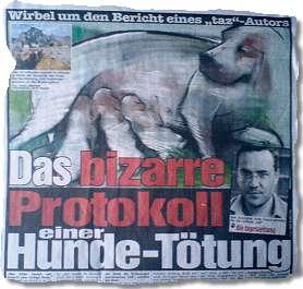 Das bizarre Protokoll einer Hunde-Tötung