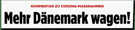 Screenshot Bild.de - Kommentar zu Corona-Massnahmen - Mehr Dänemark wagen