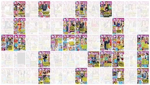 Collage mit Intouch-Covern, die über das Körpergewicht von Prominenten und über Abnehm-Wundermittel berichten