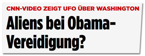 Screenshot Bild.de - Aliens bei Obama-Vereidigung?