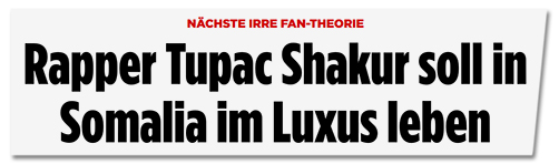 Screenshot Bild.de - Rapper Tupac Shakur soll in Somalia im Luxus leben