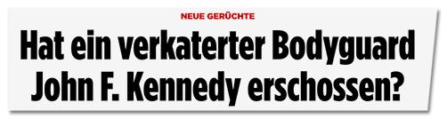 Screenshot Bild.de - Hat ein verkaterter Bodyguard John F. Kennedy erschossen?