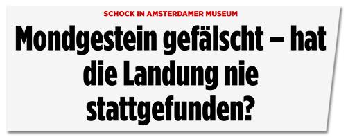 Screenshot Bild.de - Mondstein gefälscht - hat die Landung nie stattgefunden?