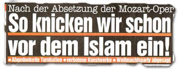 """""""So knicken wir schon vor dem Islam ein!"""""""