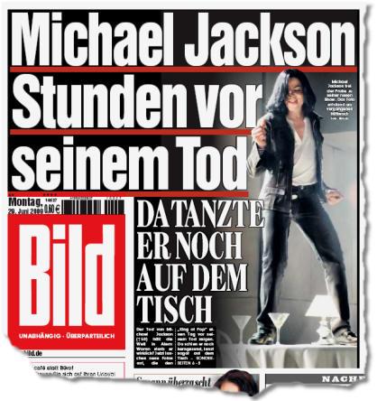 Michael Jackson Stunden vor seinem Tod - Da tanzte er noch auf dem Tisch