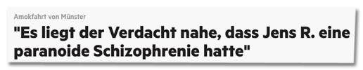 Screenshot stern.de - Amokfahrt von Münster - Es liegt der Verdacht nahe, dass Jens R. eine paranoide Schizophrenie hatte