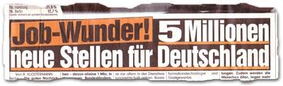 """""""Job-Wunder! 5 Millionen neue Stellen für Deutschland"""""""
