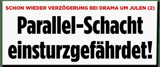 Screenshot Bild.de - Schon wieder Verzögerung bei Drama um Julen - Parallel-Schacht einsturzgefährdet