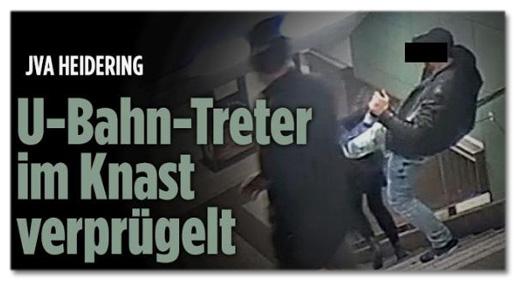 Screenshot Bild.de - JVA Heidering - U-Bahn-Treter im Knast verprügelt