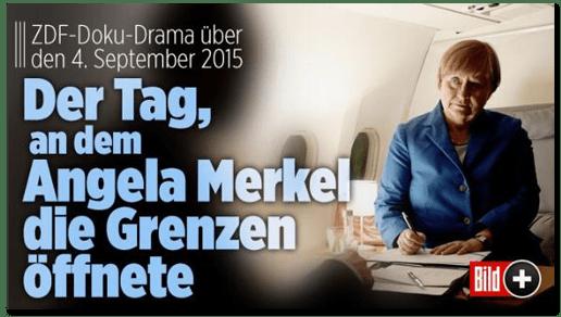 Screenshot Bild.de - ZDF-Doku-Drama über den 4. September 2015 - Der Tag, an dem Angela Merkel die Grenzen öffnete