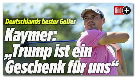 Deutschlands bester Golfer - Kaymer: 'Trump ist ein Geschenk für uns'