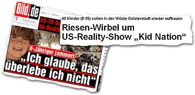 """""""Riesen-Wirbel um US-Reality-Show"""
