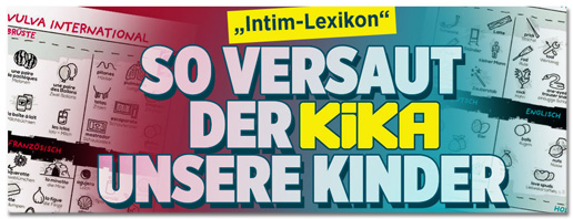 Screenshot Bild.de - Intim-Lexikon - So versaut der Kika unsere Kinder