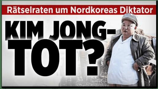 Screenshot Bild.de - Rätselraten um Nordkoreas Diktator - Kim Jong-Tot?