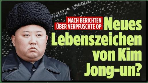 Screenshot Bild.de - Nach Berichten über verpfuschte OP - Neues Lebenszeichen von Kim Jong-un?