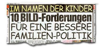 """""""Im Namen der Kinder: 10 BILD-Forderungen für eine bessere Familienpolitik"""""""