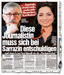 """""""lispelnde, stotternde, zuckende Menschen-Karikatur"""" -  Diese Journalistin muss sich bei Sarrazin entschuldigen ... und einen Leser beschimpft sie als """"flachgewichst"""""""
