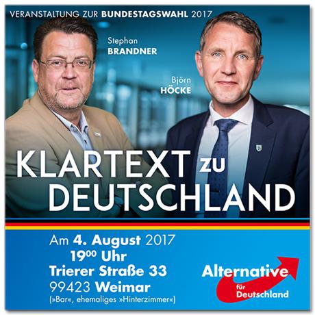 """Wahlplakat der AfD: """"Klartext zu Deutschland"""""""