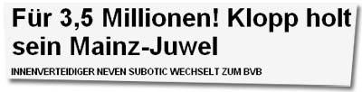 """""""Für 3,5 Millionen! Klopp holt sein Mainz-Juwel"""""""