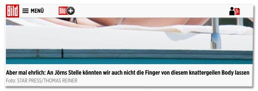 Aber mal ehrlich: An Jörns Stelle könnten wir auch nicht die Finger von diesem knattergeilen Body lassen