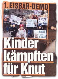 """""""1. Eisbär-Demo: Kinder kämpften für Knut"""""""