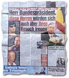 """""""Köhler fuhr zu RAF-Mörder Klar -- Herr Bundespräsident, diese Herren würden sich auch über Ihren Besuch freuen"""""""