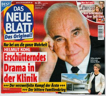 Nur bei uns die ganze Wahrheit - Helmut Kohl - Erschütterndes Drama in der Klinik - Der verzweifelte Kampf der Ärzte - Der bittere Familienkrieg