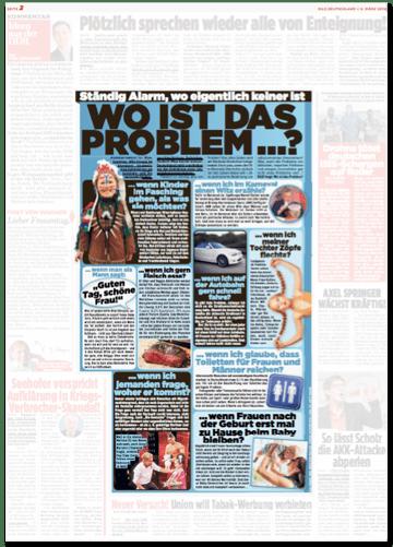 Ausriss Bild-Zeitung - Ständig Alarm, wo eigentlich keiner ist - Wo ist das Problem?