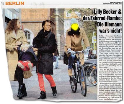 Lilly Becker & der Fahrrad-Rambo: Die Riemann war