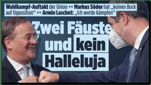 Screenshot Bild.de - Wahlkampf-Auftakt der Union - Markus Söder hat keinen Bock auf Opposition Armin Lascher Ich werde kämpfen - Zwei Fäuste und kein Halleluja