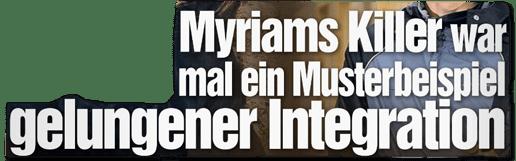 Ausriss Bild-Zeitung - Myriams Killer war mal ein Musterbeispiel gelungener Integration