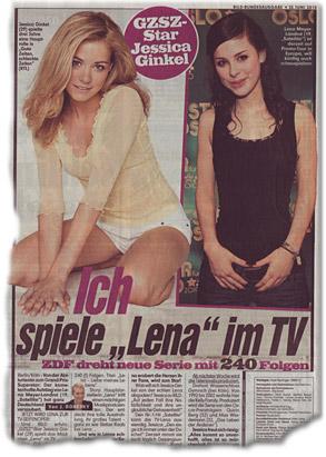 """Ich spiele """"Lena"""" im TV"""
