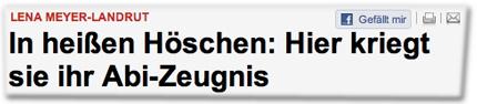 Lena Meyer-Landrut - In heißen Höschen: Hier kriegt sie ihr Abi-Zeugnis