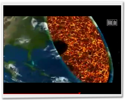 Ein überdimensionales Meerschwein frisst die Erde auf