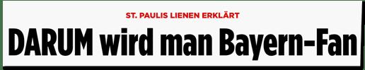 Screenshot Bild.de - St. Paulis Lienen erklärt - Darum wird man Bayern-Fan
