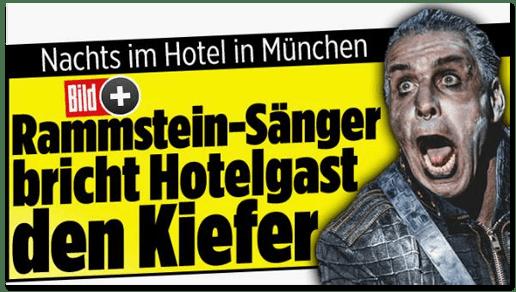 Screenshot Bild.de - Nachts im Hotel in München - Rammstein-Sänger bricht Hotelgast den Kiefer
