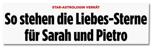 Star-Astrologin verrät - So stehen die Liebes-Sterne für Sarah und Pietro