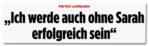 Pietro Lombardi - Ich werde auch ohne Sarah erfolgreich sein