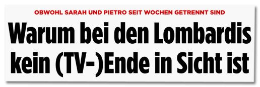 Obwohl Sarah und Pietro seit Wochen getrennt sind - Warum bei den Lombardis kein (TV-)Ende in Sicht ist