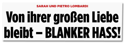 Sarah und Pietro Lombardi - Von ihrer großen Liebe bleibt - blanker Hass!