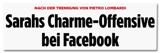 Nach der Trennung von Pietro Lombardi - Sarahs Charme-Offensive bei Facebook