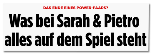 Das Ende eines Power-Paars? Was bei Sarah und Pietro alles auf dem Spiel steht