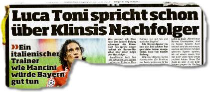Luca Toni spricht schon über Klinsis Nachfolger