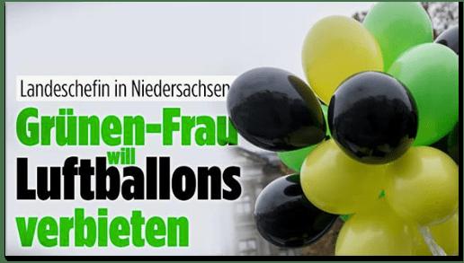 Screenshot Bild.de - Landeschefin in Niedersachsen - Grünen-Frau will Luftballons verbieten